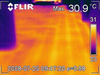 Termografia impianto radiante