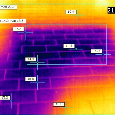 Termografia su ceramiche riscaldate